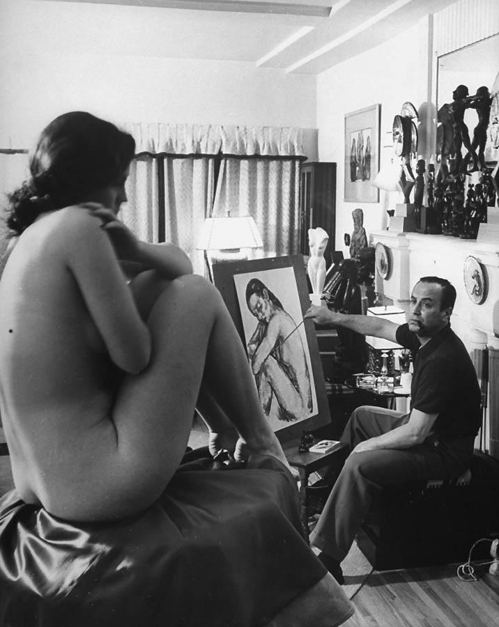 Секс художника натурщицы и еще однлй девушки фото 732-577