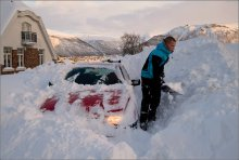 Находка / Последствия 3-х дневного снегопада. Норвегия. г. Тромсо