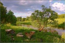 Сяду на пенёк... / Река Яхрома на окраине города.