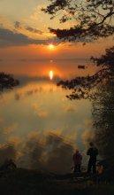 Утро для двоих / Вертикальная панорамка утра на Минском море.. Приятного всем просмотра