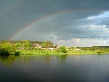 После грозы / Случайно сфотографировал потрясающую радугу.