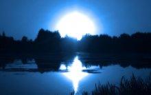 Lake On A Night Sunset / Lake On A Night Sunset
