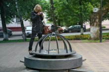 Географический центр Европы / Знак был установлен 31 мая 2008 г. в городе Полоцк