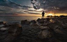 В догорающих лучах заката... / Азовский берег