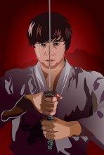 Samurai / очередная отрисовка. люблю вообще аниме. особенно тему самураев. понятно что типаж не японский но японца с катаной поблизости не нашлось.
