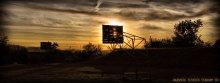 School Stadium at Sunset / Школьный стадион в д.Красное на закате