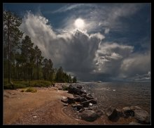 Приближение непогоды в карельском раю... / Это четыре кадра, собранные в панораму. Всем приятного просмотра!!!