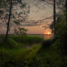 Выход на Коньковый берег / Такой вид я застал добравшись до озера Вишнево. Место и берег называют коньковым. Так уж повелось.)