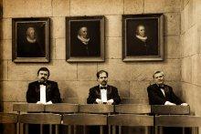 Датчане и белорусы / Трое достаточно интеллигентных белорусов в сравнении с тремя знатными датчанами в кафедральном соборе г.Виборга