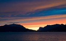 Небо над островом Kvaløya / закат банальный