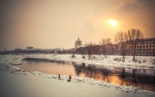 """Зима...вечер...набережная..."" / Вильнюс, набережная Нериса"