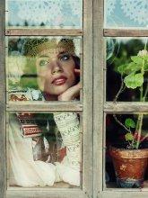в ожидании... / модель Анжелика костюм из коллекции Кати Бурак