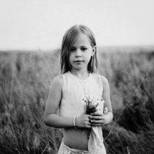 портрет с ромашками / *****