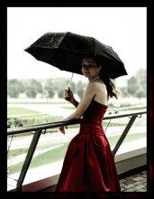 девушка с зонтом 2 (репост) / спасибо всем за советы к предыдущей работе. постарался учесть)