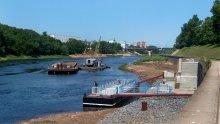Новая пристань / В первый день июля на набережной Западной Двины в Витебске.