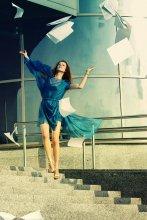 Равновесие / модель Ира платье Ольги Радецкой