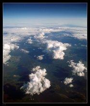 Cloudscape / В полете над Беларусью. Снято через иллюминатор.