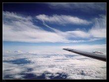 Махну серебряным... / Условия съемки - самые любимые, полетные, через иллюминатор.
