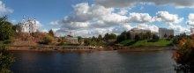 Над Двиной-рекой / Четыре горизонт.кадра с рук. 19 сентября в Витебске