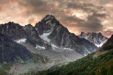 Majestic / Aiguille du Chardonnet and behind, the ridge of Aiguille d'Argentière – taken from Lognan