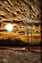 Песочное небо / Снимок сделан на лысой Горе в Киеве.