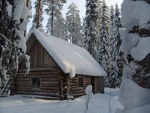 У леса на опушке жила зима в избушке... / Карелия