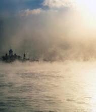 """Николо-Перервинский монастырь / Снимал во время резкого похолодания, вода была """"теплая"""",а воздух где-то под -15-17"""