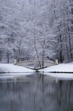 Царицыно / Москва, Царицынский парк, выпал первый снег, было пасмурно.