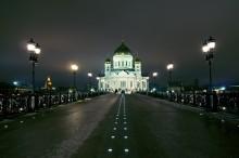 Храм Христа Спасителя / Снимал вечером в ноябре с Патриаршего моста.