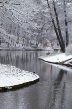 Царицыно. Верхний пруд / Первый снег  в Царицыно