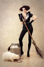 молодая ведьмочка / модель Наташа Рябова стилист, дизайнер Ольга Радецкая стилизация