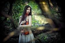Портрет со скрипкой (закатное) / Фотосет со скрипкой