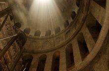 Свет Божий. / Храм гроба Господня, Иерусалим.
