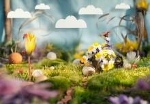 Народец Мая / Съемка в лесу с естественным светом.  фон - салфетка для протирки оптики;  отражитель/заполняющий свет - фольга от шоколадки;  точечный свет - карманное зеркальце .)  Nikon D300 + Sigma 50mm Macro Облака добавлены в ФШ