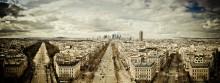 The way to the city / Париж, вид на Дефанс с Триумфальной арки