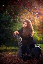 Осень.Евгения. / Прогулка по парку. Возможно последний солнечный день...