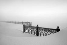 Пограничье. / Ярославль,сезон пршедшей зимы,набережная реки Волга,минус 35 и сильный туман.