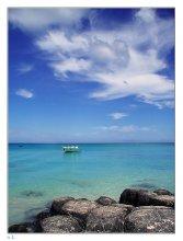 """Ясный день на берегу океана / Посвящается всем соскучившимся по лету. Маврикий, Индийский океан. """"You gather the idea that Mauritius was made first, and then heaven; and that heaven was copied after Mauritius"""". Mark Twain, 'Folowing the equator' - 1897"""