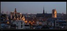 Twilight over Paris / Все с той же террасы Центра Помпиду, дождливым вечером в конце марта... Чуть правее - Собор Парижской Богоматери (Notre Dame de Paris). Чуть левее, прикрытая крышами - Мэрия Парижа (Hotel de Ville).