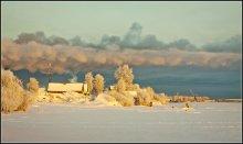 во власти зимы... / река Северная Двина
