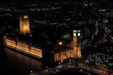 Вечерний Лондон / снимок сделан с кабины колеса обозрения(London Eye)
