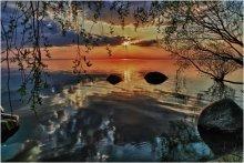 """/ """"... Под ветвями ив плакучих Тускло воду золотит."""" NB: я знаю, что в стихотворении Бунина речь идёт о луне."""
