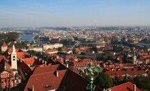 Пражская картинка*** / Такой увидела я Прагу в легкой осенней дымке, преодолев почти 300 крутых ступенек, ведущих на колокольню Собора Святого Вита...