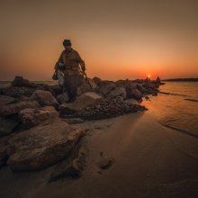 Возвращение с рыбалки / Азовское море.Бердянский залив.