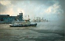 холодно и туманно... / Мурманск, Кольский залив