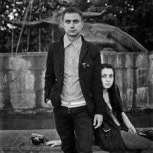 Игорь и Катя (портрет у фонтана) / Витебск, 2012