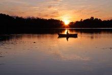 Домой! С уловом!!! / Часто наблюдаю закаты с этой точки, а сосед не пропускает рыбалку. Сегодня встретились...