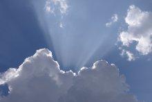 Небесный прожектор / извержение