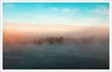 растворяясь в тумане... / река Северная Двина