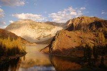 Закат над озерами Yosemite /